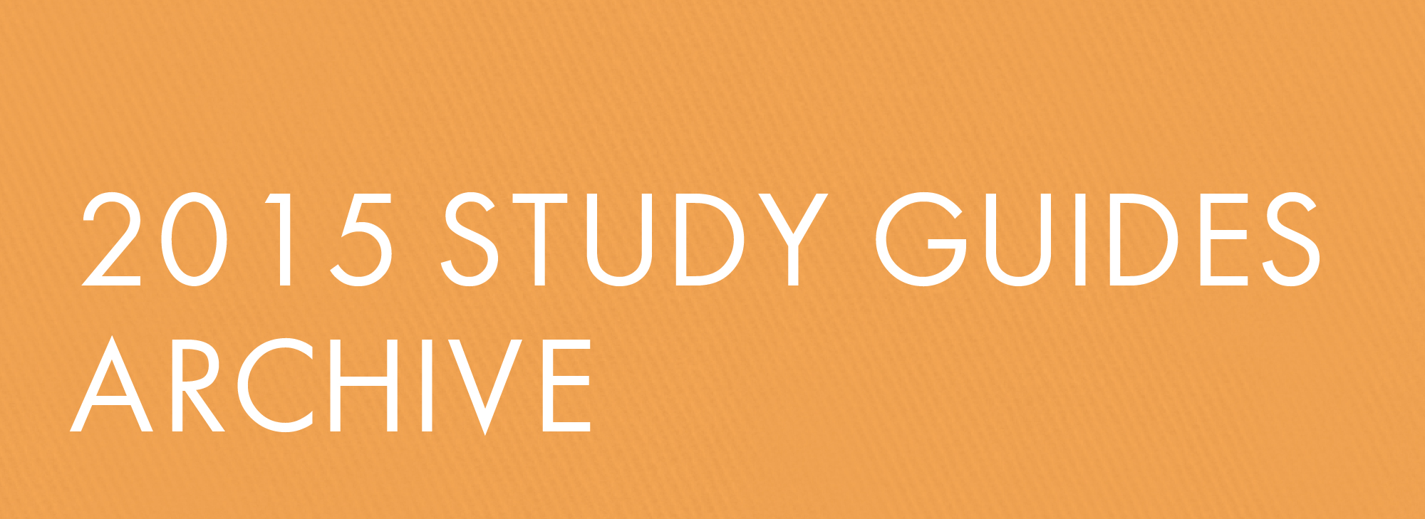 2015 Study Guides Archive