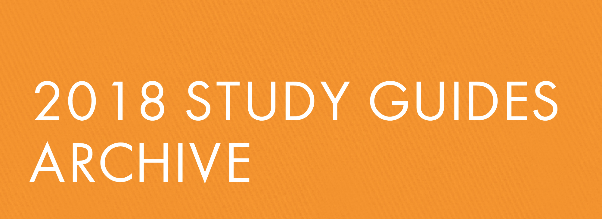 2018 Study Guide Archive