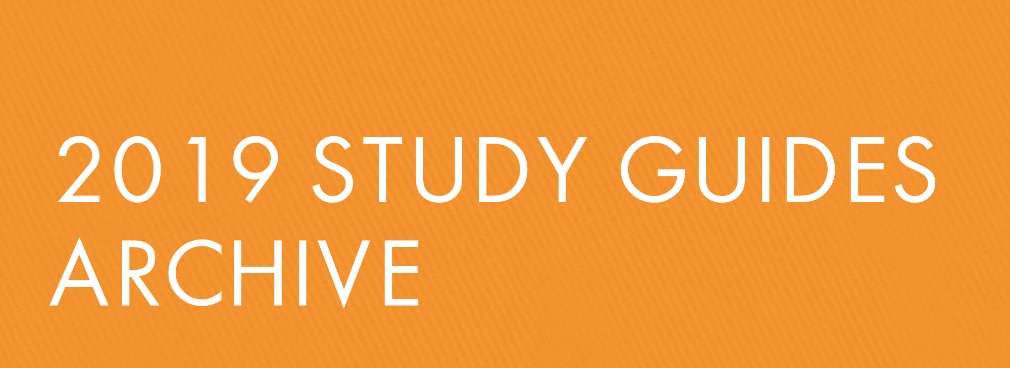 2019 Study Guide Archive
